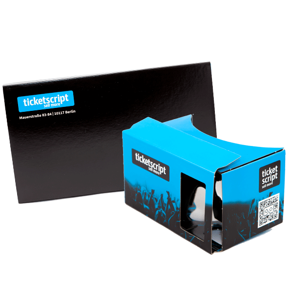 Google Cardboard as an invitation card for events – ticketscript