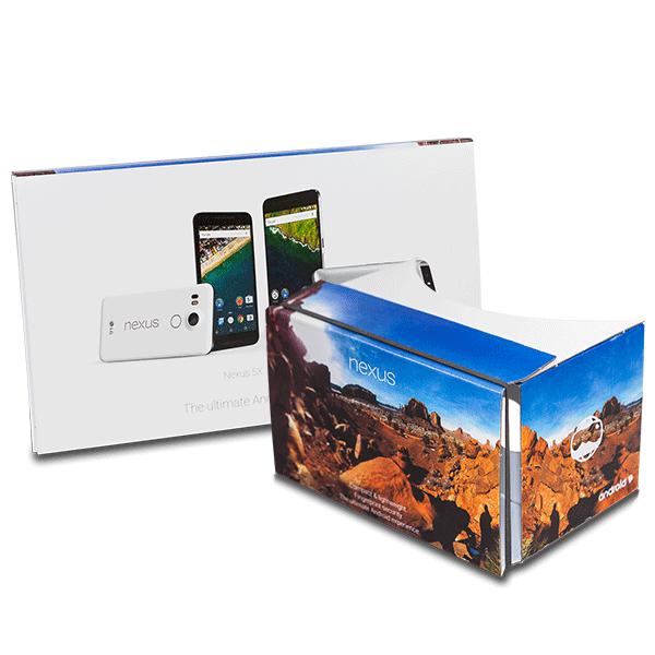 Google Cardboard Geschenk für neues Google Nexus 5X und Nexus 6P